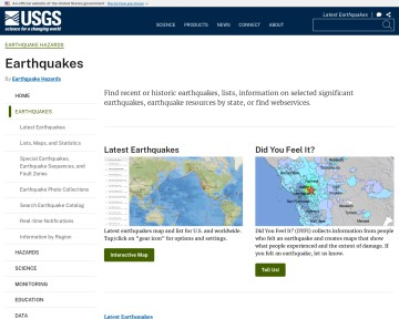 USGS Earthquake Hazards