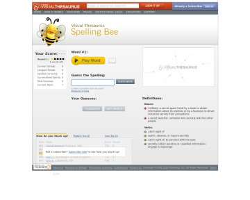 Spelling Bee - Visual Thesaurus