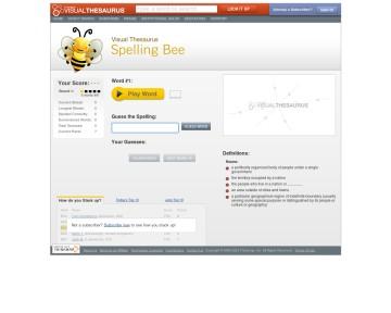 Spelling Bee - Visual Thesaurus